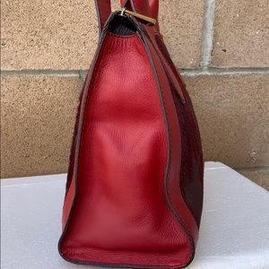 Fossil Bags - Fossil Vintage Reissue red calf hair handbag RED